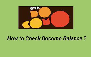 How to check Tata Docomo Balance