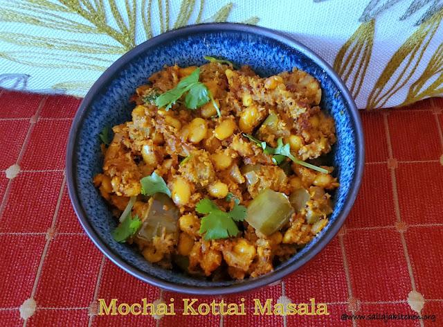 images of Mochai Kottai Masala / Field Beans Masala