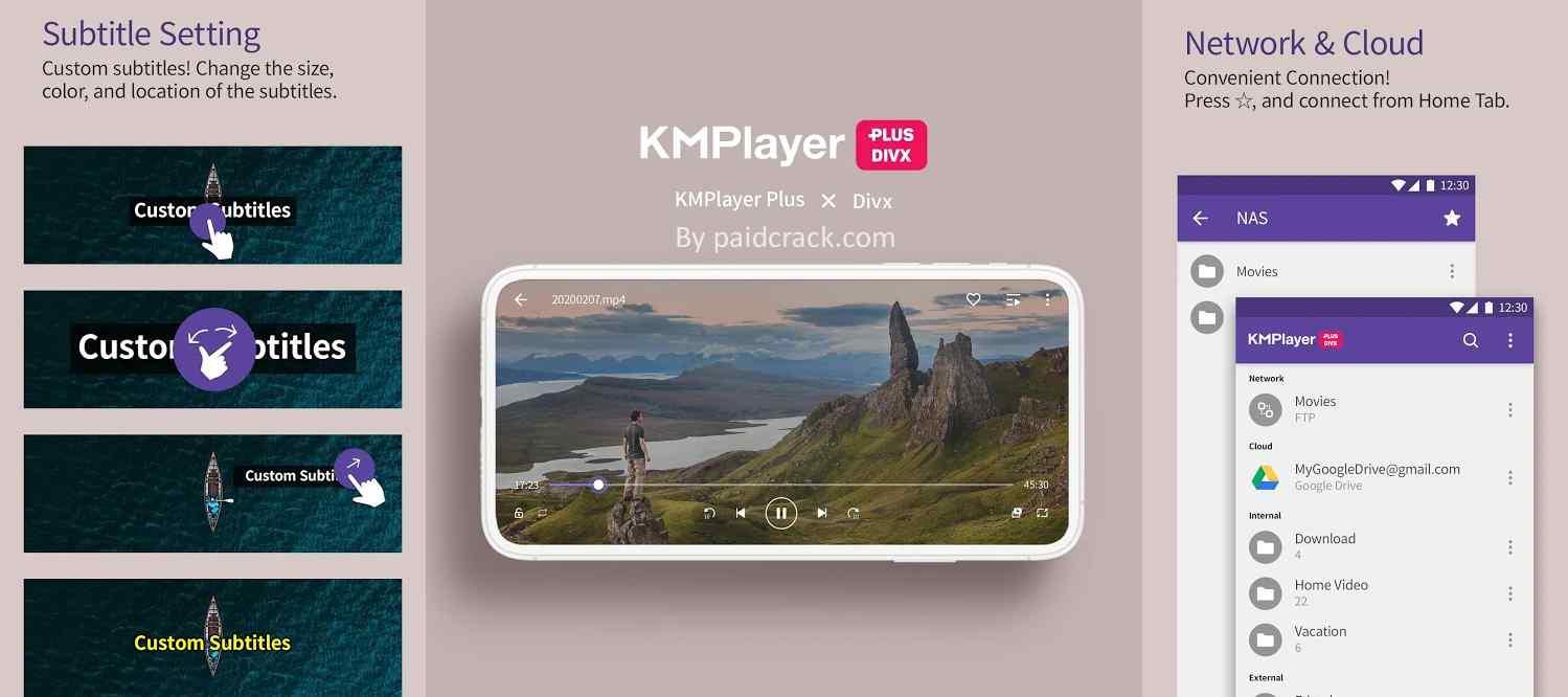 KMPlayer Plus Divx Paid Apk 31.1.40