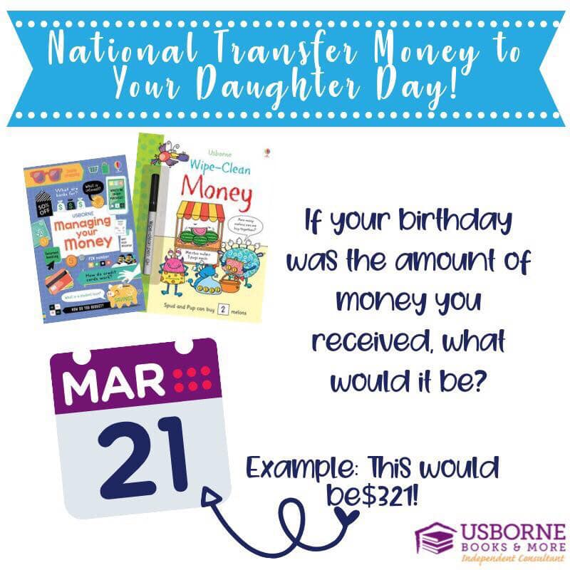 National Transfer Money to Your Daughter Day Wishes pics free download