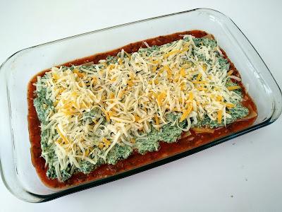 La Cocinera novata lasagna de espinacas receta cocina verdura pasta bajo en calorias italiana queso comfortfood horno
