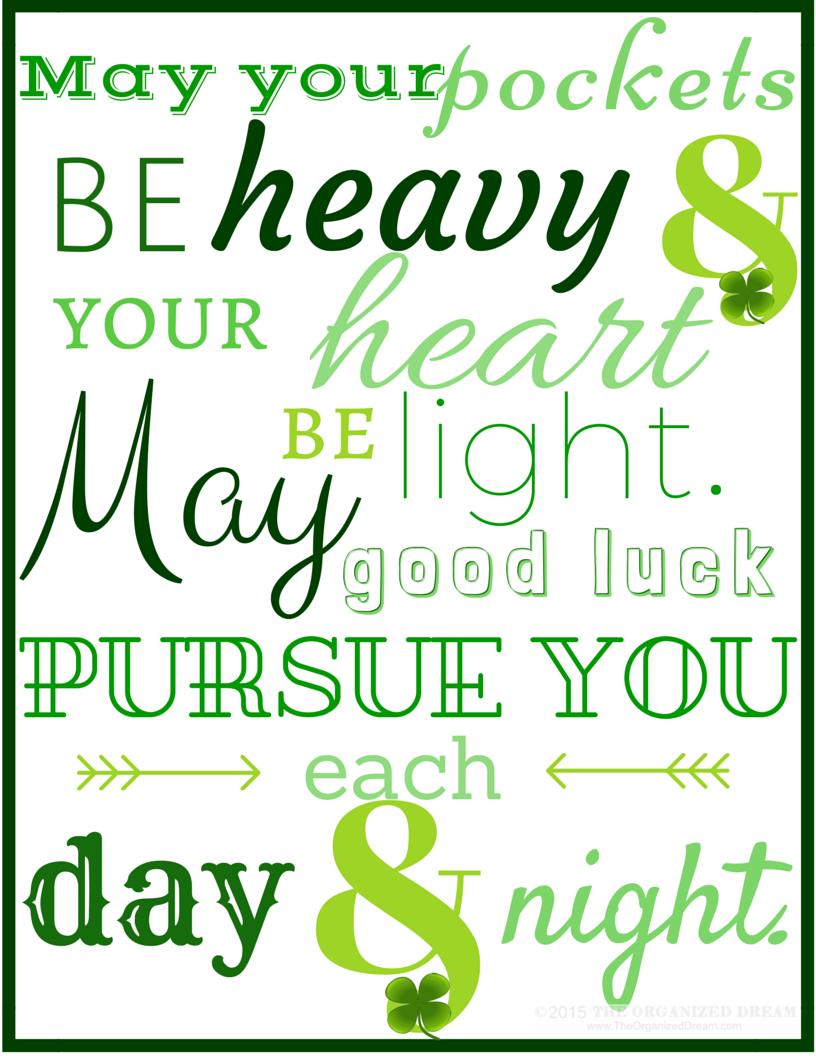 Printable St Patricks Day Sayings