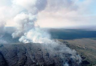 Combate a incêndios florestais na Bahia