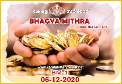 Upcoming Kerala Lottery bhagya mithra tickets 06-12-2020 BM-1