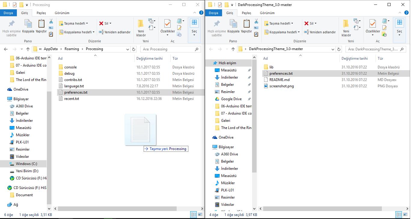 Processing 3 IDE Tema Rengi Değiştirme - Mehmet Murat YILMAZ