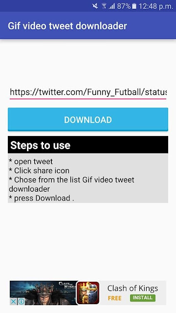 how to save videos from twitter on android
