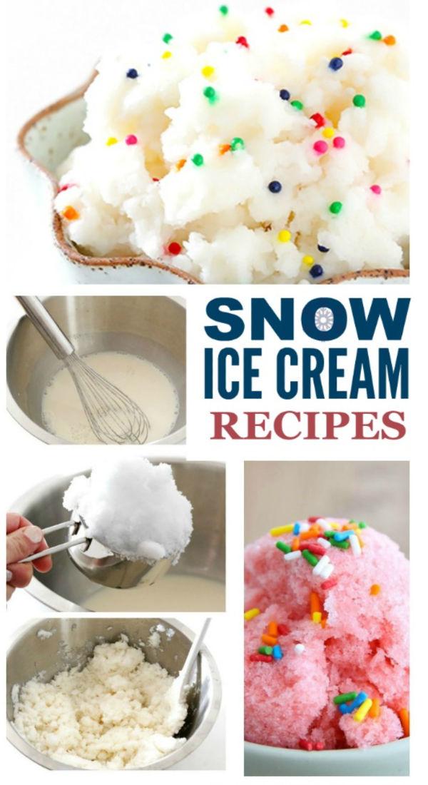 Easy and delicious ways to make ice cream using snow! #snow #snowicecreamrecipe #snowicecream #howtomakesnowicecream #growingajeweledrose #activitiesforkids
