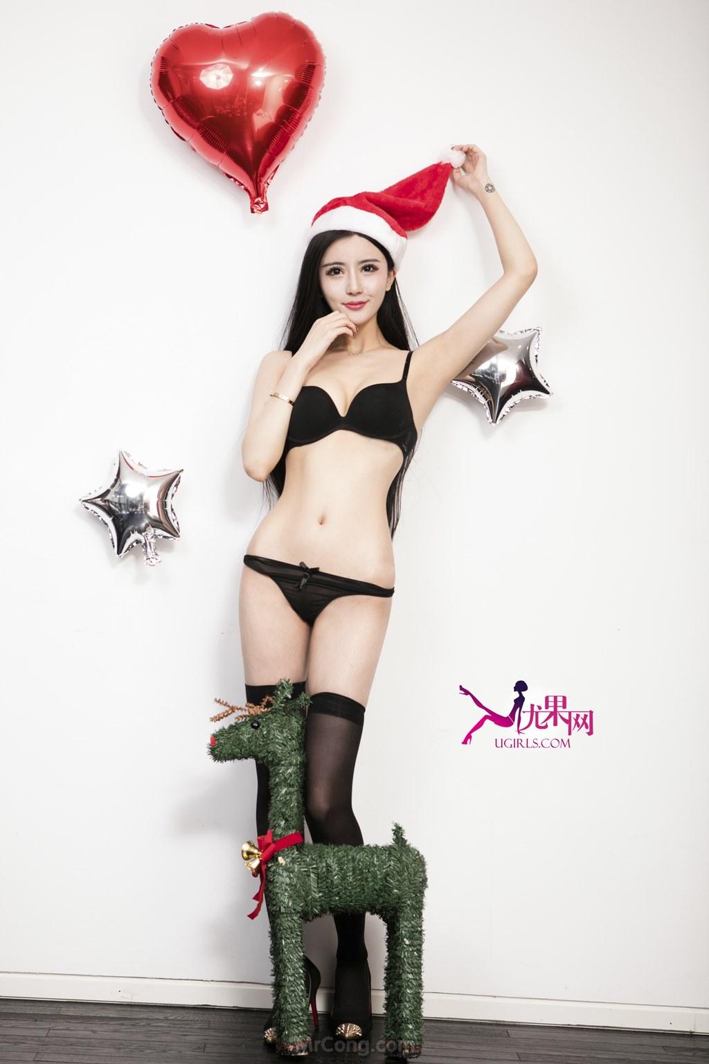 Beauty Jin Zi Xi (金子熙) khoe sắc gợi cảm trong bộ ảnh giáng sinh UGIRLS 143