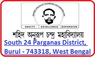Saheed Anurup Chandra Mahavidyalaya, South 24 Parganas District, Burul - 743318, West Bengal