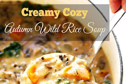 Creamy Cozy Autumn Wild Rice Soup