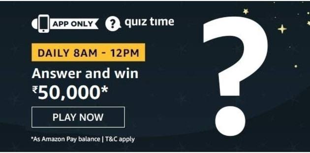 Amazon Quiz 18 June 2020 Answers Win - Rs.50000, Amazon Quiz Time Contest, 18th June Amazon Quiz Answers.