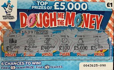£1 Dough Me The Money Scratchcard