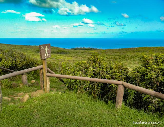 Trilha ligando Mataveri à Vila Cerimonial de Orongo, Ilha de Páscoa