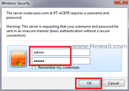 Asus Router Default Login Password