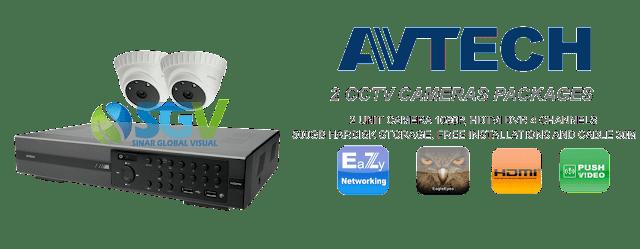 Paket Pasang 2 Camera CCTV AVTECH