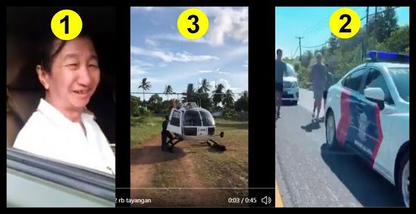 Jadi Sorotan Netizen.. Kelakuan Mereka, Ke Warung Pakai Mobil TNI, Joging Dikawal Mobil Polisi, Sekarang Naik Heli Polisi