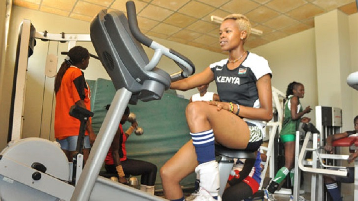 Kenyan woman at the gym