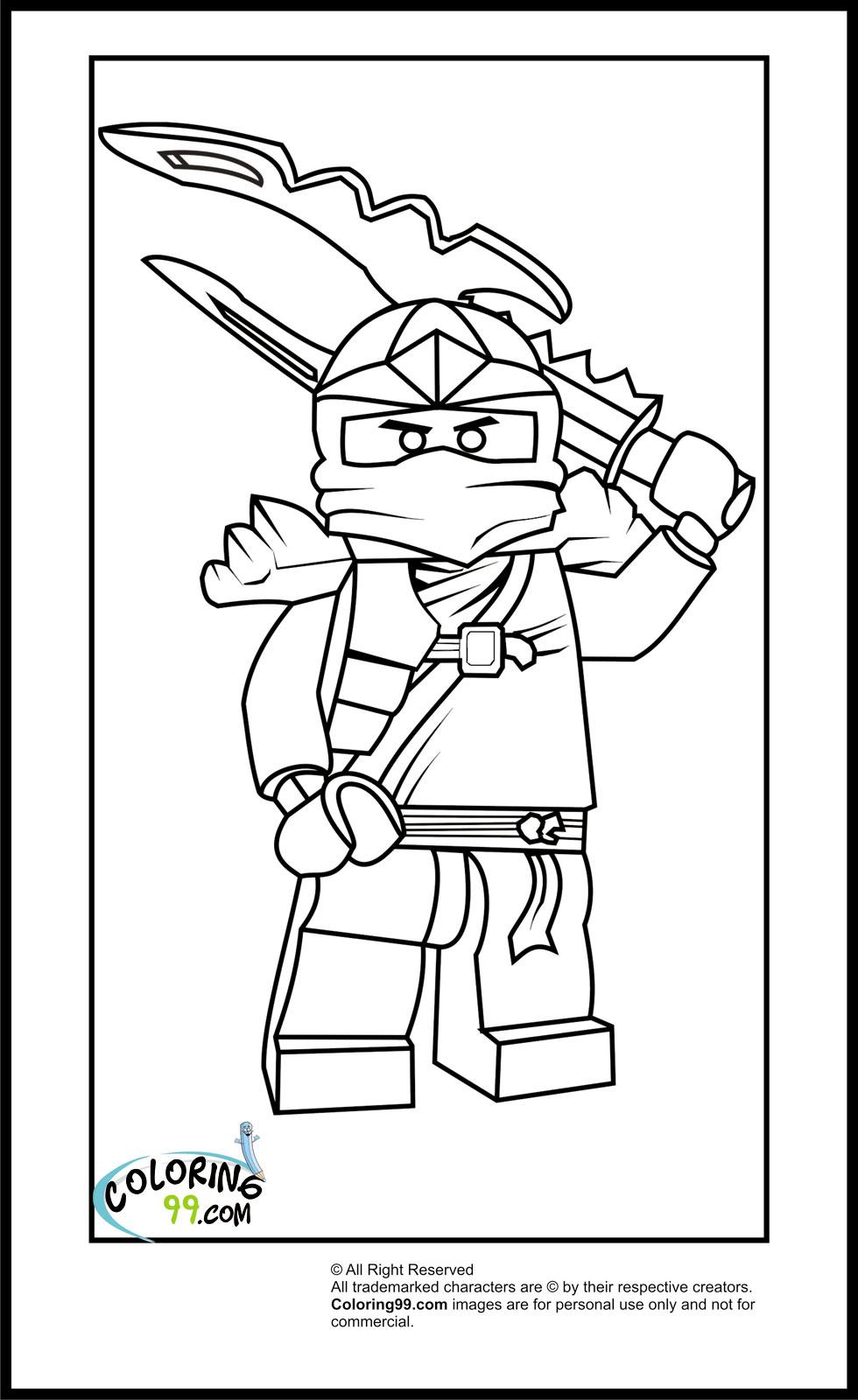 Lego ninjago masters of spinjitzu jay for Ninjago coloring pages to print