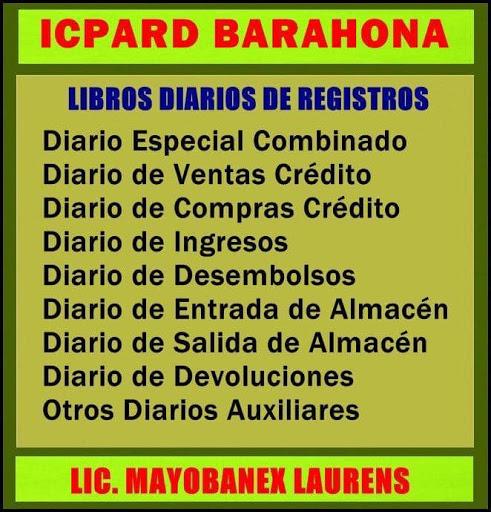 LIBROS DIARIOS DE REGISTROS