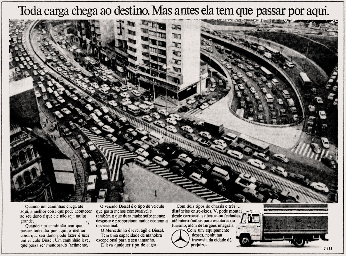 Mercedes-Benz.  1973. brazilian advertising cars in the 70. os anos 70. história da década de 70; Brazil in the 70s. propaganda carros anos 70. Oswaldo Hernandez.