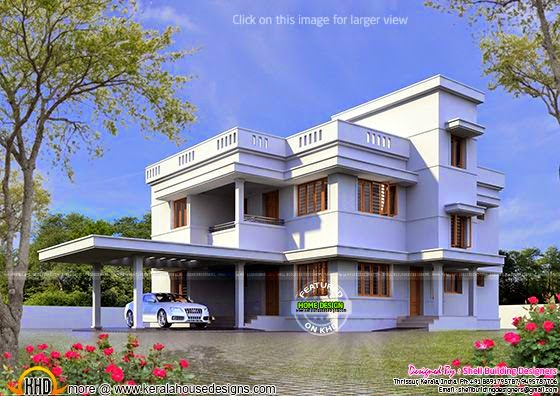 January 2015 kerala home design and floor plans for 2nd floor house front design