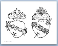 sacred heart coloring pages - photo#5