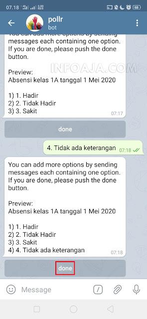 cara membuat absensi kehadiran di aplikasi telegram