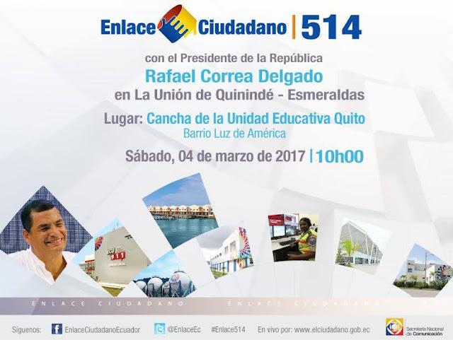 enlace ciudadano 514 en La Unión de Quinindé