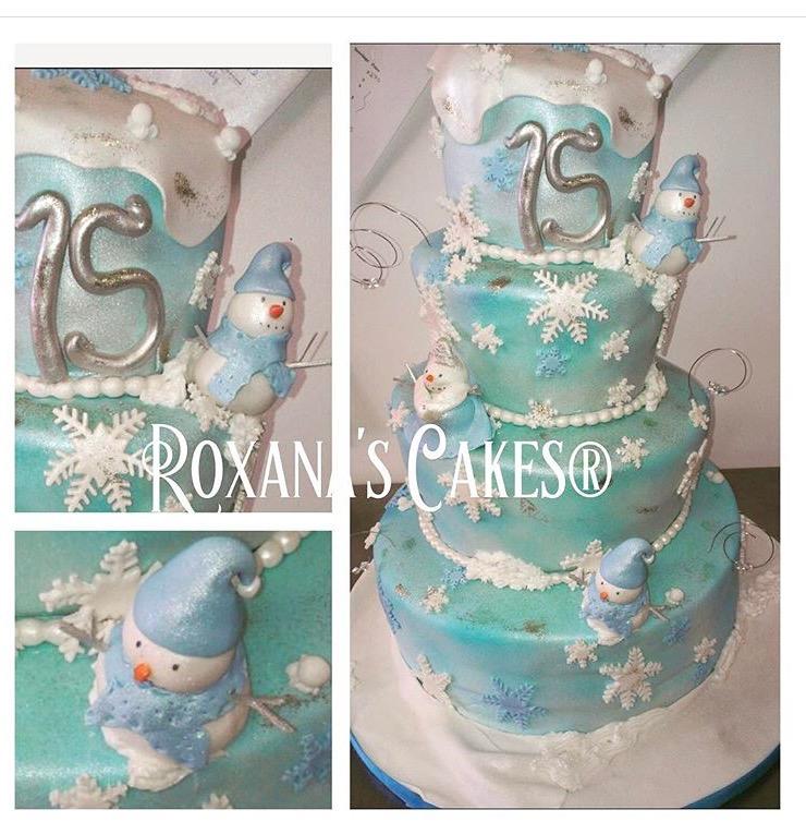 Baking With Roxanas Cakes Winter Wonderland Themed Cake