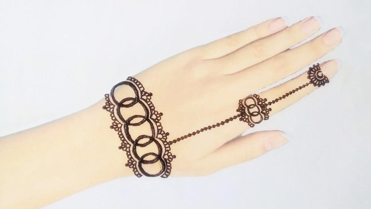 jewellery mehndi design easy