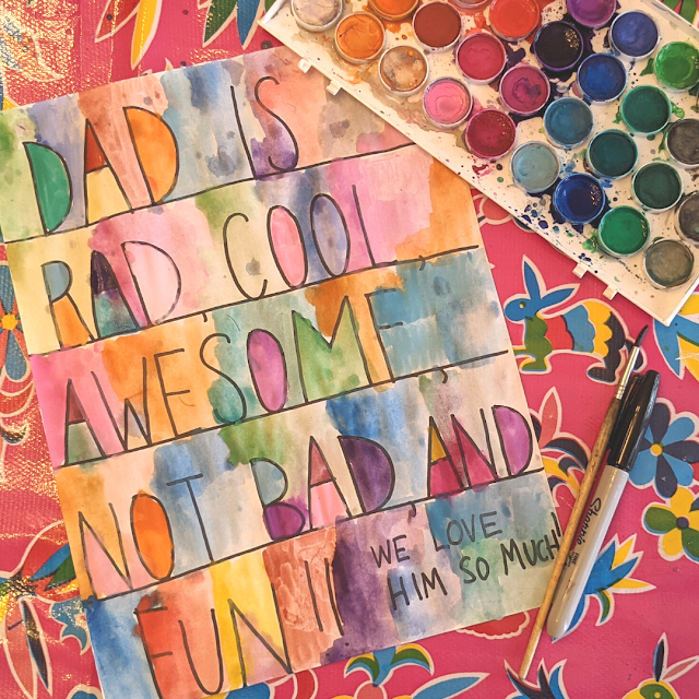 Super Fun Artsy Father's Day Poetry- A DIY Kid Card and Art Piece for Dad