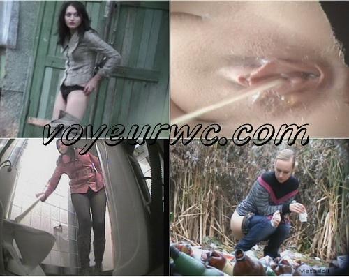 Pisshunters 6104-6129 (Voyeur peeing outdoor. SpyCam toilet pissing girls)