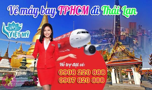 Vé máy bay TPHCM đi Thái Lan hãng Air Asia
