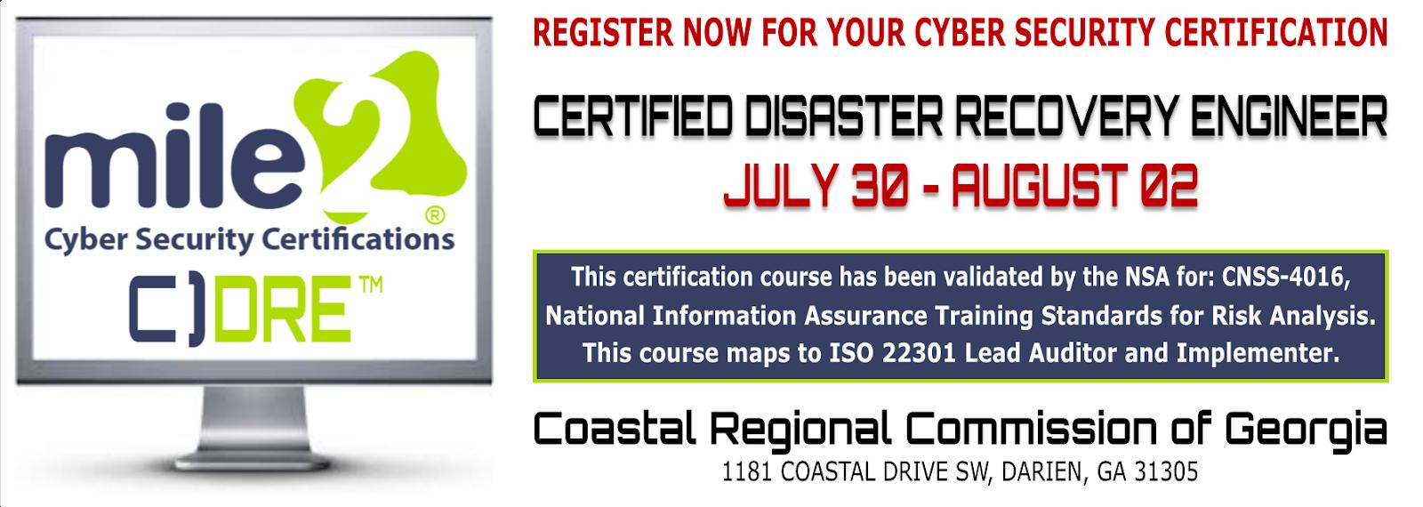Michael I Kaplan Earn Your Cdre Cyber Security Certification In July