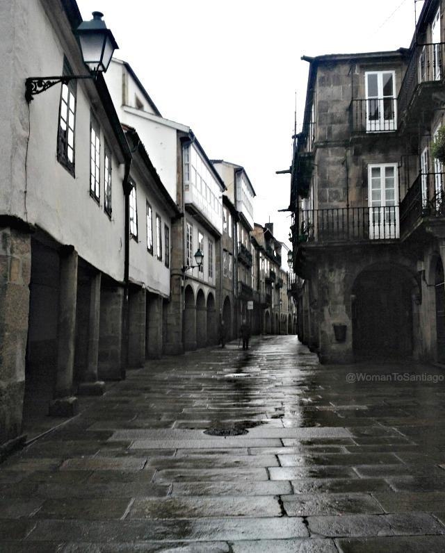 foto rua do vilar de santiago de compostela