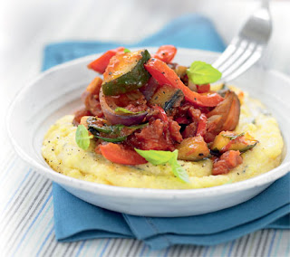 Quick Ratatouille with Cheese Polenta Recipe