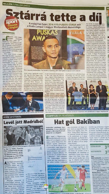 First time having my photos featured on Hungarian Papers Sport Edition #firsttime