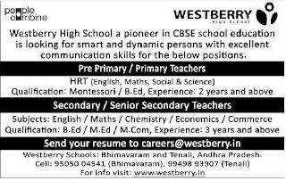 Westberry High School Primary Teachers, Secondary teachers, PRO Jobs Recruitment 2019