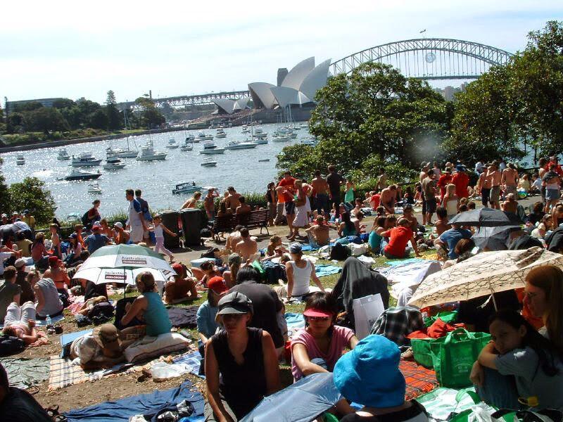 Picnic el día de Nochevieja en Sydney