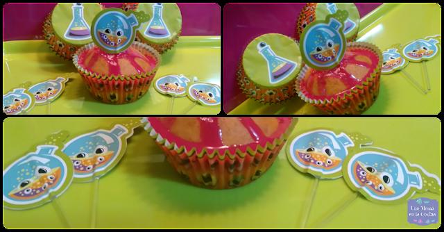 cupcakes de calabaza terroríficos de halloween