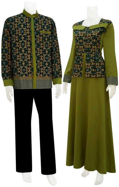 50 Gambar Model Baju Batik Gamis Kombinasi Terbaru ~ Ayeey.com
