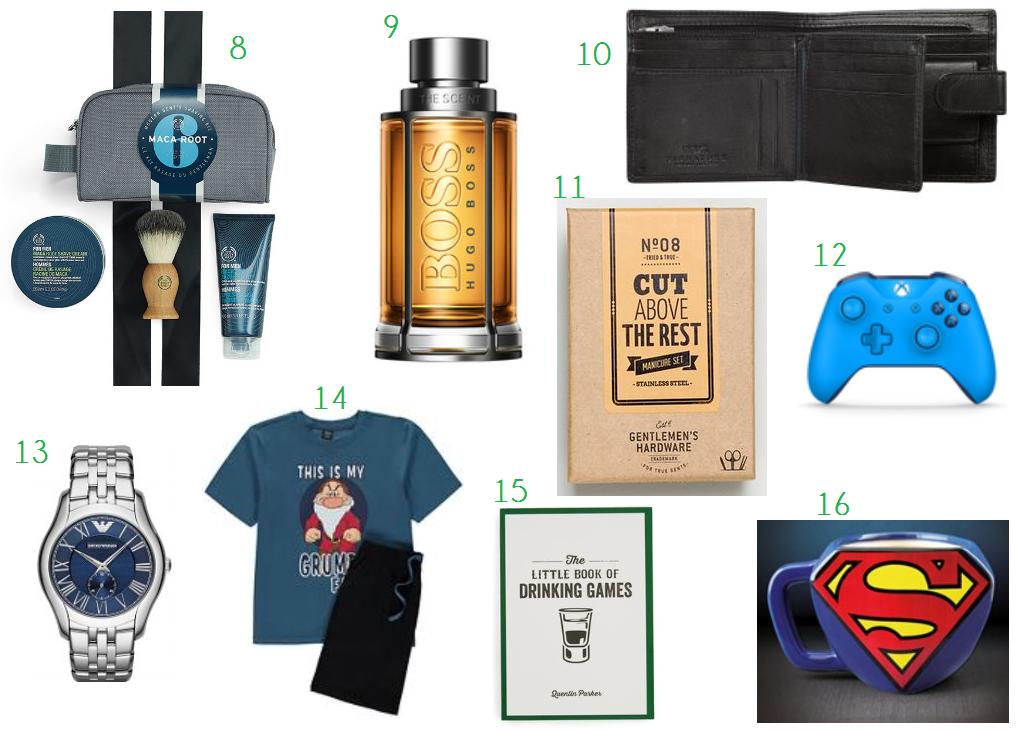 gift ideas for men blog post