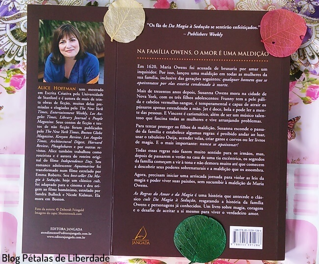 Resenha, livro, As-regras-do-amor-e-da-magia, Alice-Hoffman, Editora-Jangada, sinopse, capa,