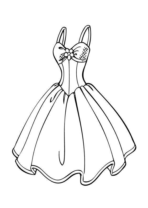 Tranh cho bé tô màu váy hai dây