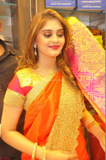 Surabhi looks stunning in Saree at Nakshatra Fashion Store Launch at Suchitra X Road 30.JPG