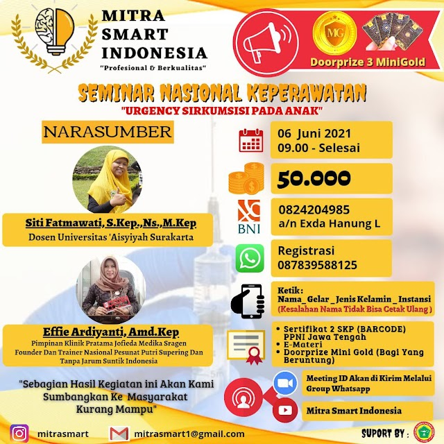 "(2 SKP PPNI) Seminar Nasional Keperawatan ""Urgency Sirkumsisi pada Anak"""