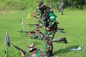 Tingkatkan Profesionalitas Prajurit, Kodim 0702/Purbalingga Laksanakan Latihan Menembak