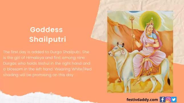 Goddess Shailputri Navratri First Day Colors
