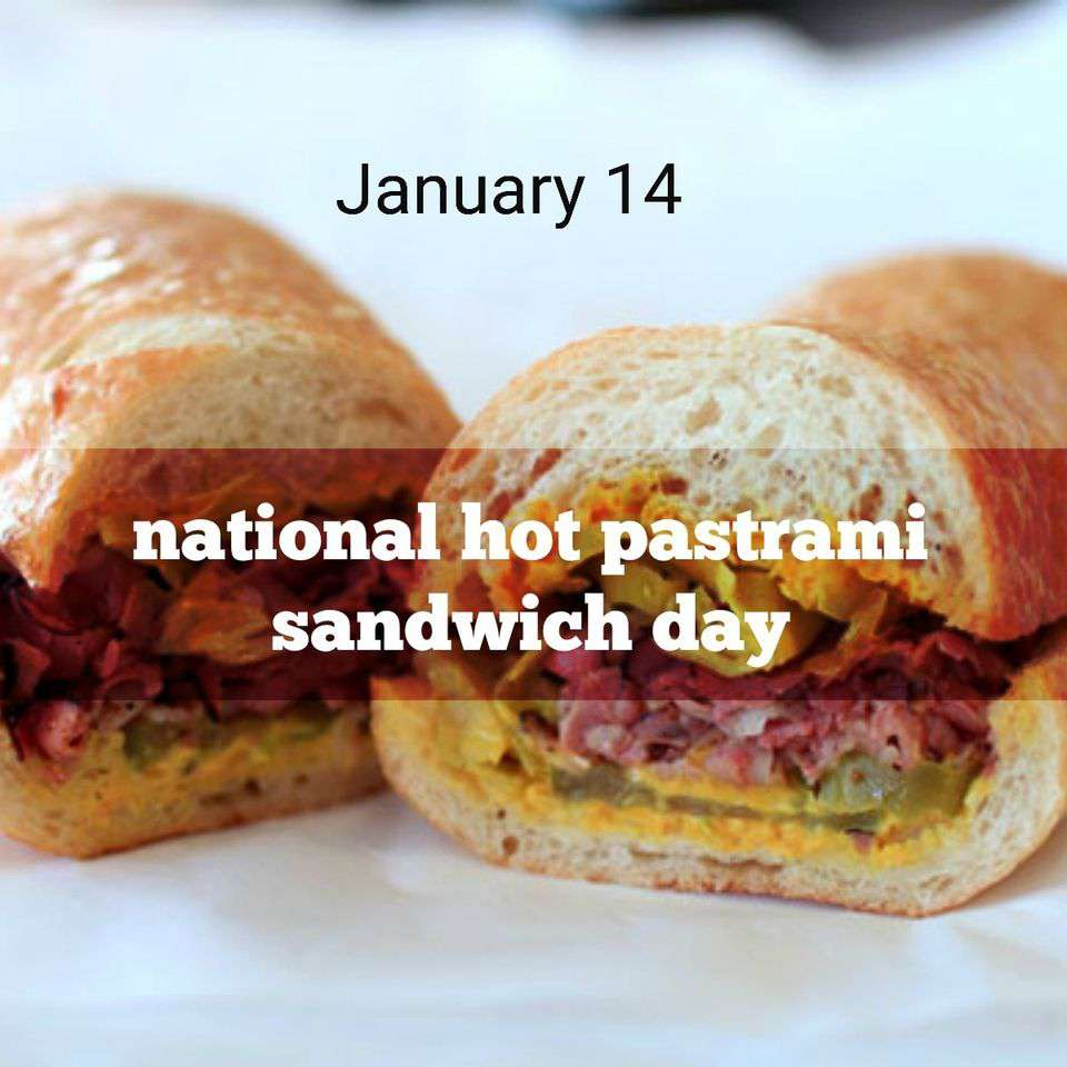 National Hot Pastrami Sandwich Day Wishes Beautiful Image