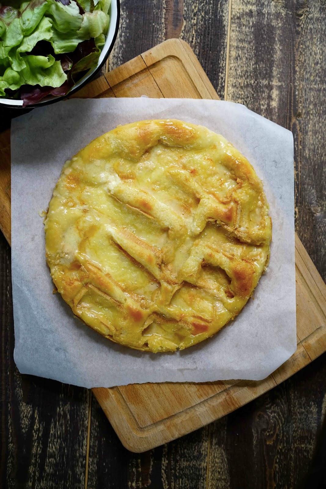 recette ch'ti , pâte levée , tarte au maroilles , recette du nord